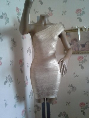 Bandeaukleid  Gold Metallic