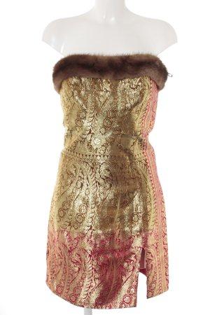 Bandeaujurk goud-rood verfraaid patroon extravagante stijl