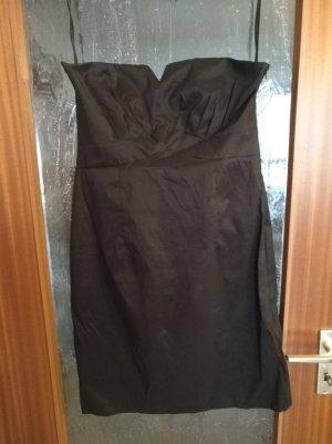 3 Suisses Vestido bandeau negro
