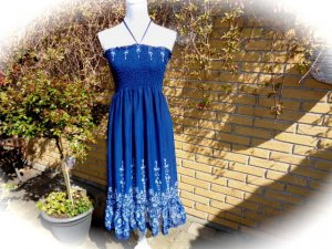 Vestido bustier multicolor Seda