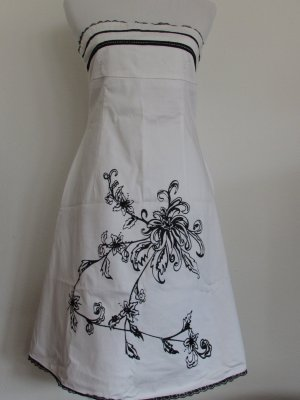 Robe bandeau blanc-noir