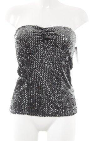 Haut bandeau gris ardoise-argenté style festif