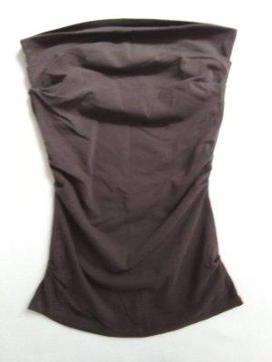 Benetton Top bandeau marrón-marrón oscuro