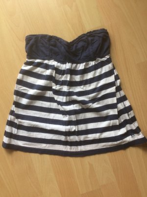 Abercrombie & Fitch Bandeau top wit-donkerblauw