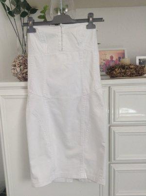 Bandeaux-Kleid / weiß / Gr. 34