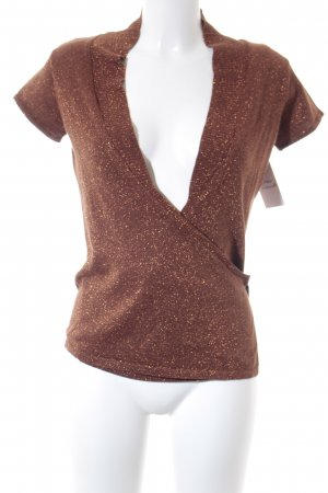 Bandolera Chaqueta tipo blusa color bronce-marrón elegante