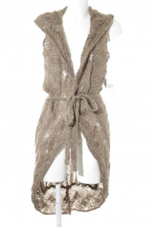 Bandolera Cardigan gold-colored-sand brown cable stitch casual look