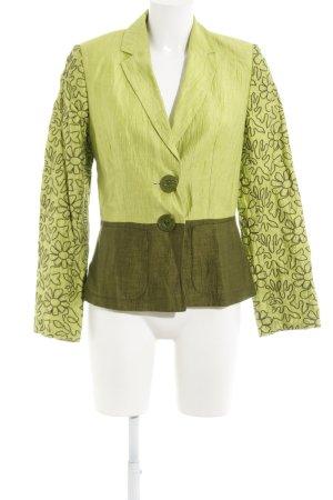 Bandolera Kurz-Blazer wiesengrün-khaki Blumenmuster Elegant