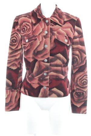 Bandolera Short Jacket flower pattern casual look