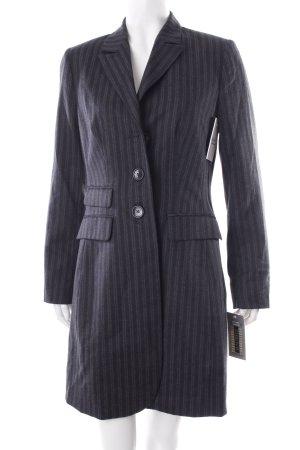 Bandolera Long-Blazer grau-graublau Streifenmuster Business-Look