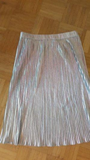 Bandolera Plaid Skirt silver-colored viscose
