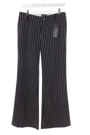 Bandolera Pantalón tipo suéter negro-crema estampado a rayas