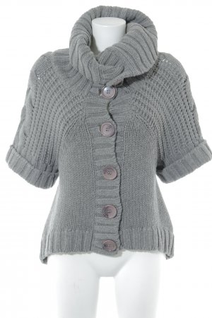 Bandolera Strickjacke grau Casual-Look