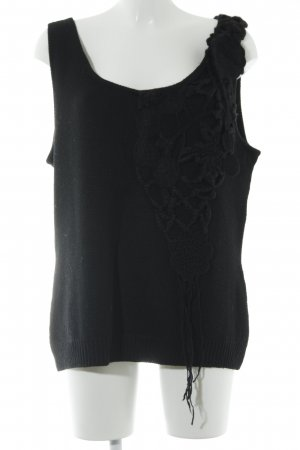 Bandolera Knitted Top black casual look
