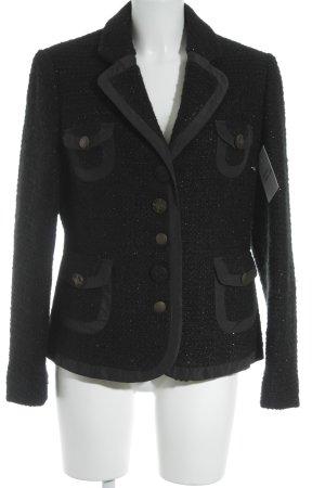 Bandolera Blazer de lana negro brillante