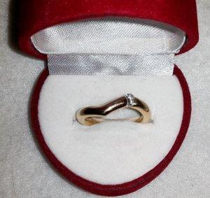 Bandring Brillantring 750 Gold Verlobung Ehering Muttertag Valentin Zertifikat