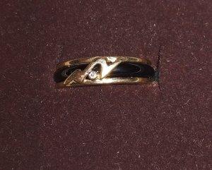 Bandring GG 333 mit Diamant und Onyx