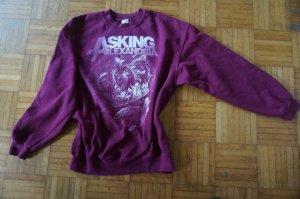 Sweatshirt bordeaux-wit