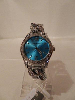 Analog Watch light grey-cornflower blue stainless steel
