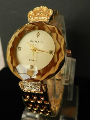 Analog Watch gold-colored stainless steel