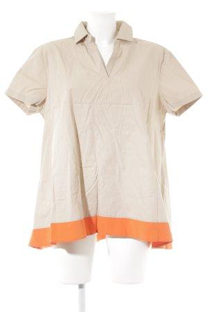 Barba Napoli Camicia a tunica beige-arancio neon stile semplice