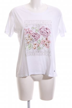 Barbara Becker T-Shirt white flower pattern casual look