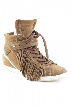 Barbara Bui Sneaker con tacco marrone stile atletico