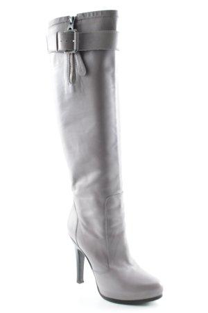 Barbara Bui Botas con tacón taupe-marrón-negro look metalero