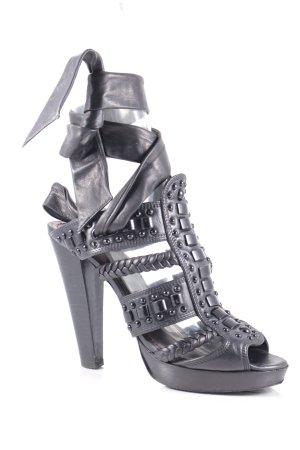 Barbara Bui High Heel Sandaletten schwarz extravaganter Stil