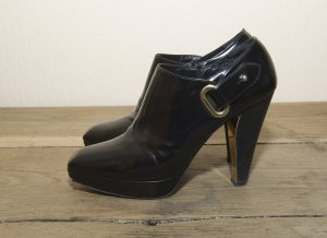 Barbara Bui Platform Booties black leather