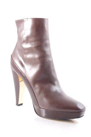 Barbara Bui Zipper Booties brown classic style