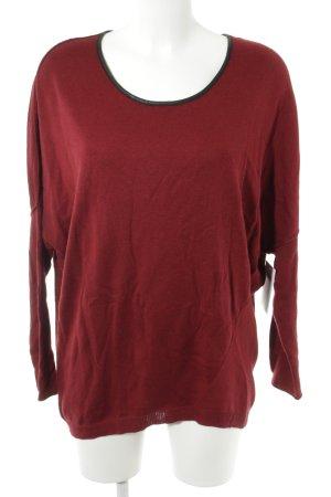 Barbara Bui Jersey de cuello redondo rojo oscuro-negro look casual