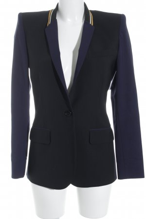 Barbara Bui Blazer smoking blu scuro-nero stile professionale