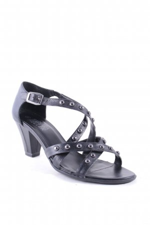 Barbara Heller Strapped High-Heeled Sandals black party style
