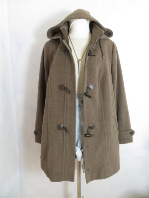 Duffel Coat grey brown wool