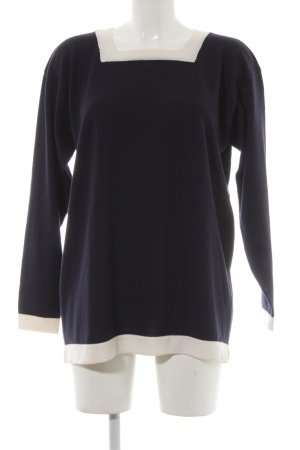 Barbara Lohmann Knitted Sweater dark blue-natural white business style