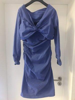 Barbara Schwarzer Vestido de noche azul neón
