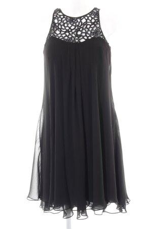 Barbara Schwarzer Babydoll-jurk zwart elegant
