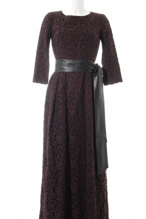 Barbara Schwarzer Ball Dress black-bordeaux floral pattern elegant