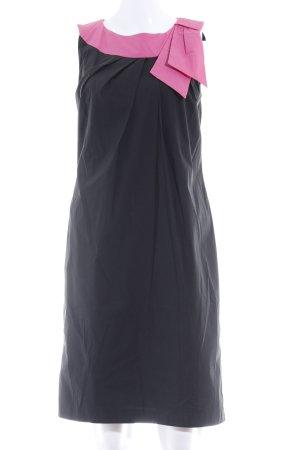Barbara Schwarzer Kokerjurk zwart-roze elegant