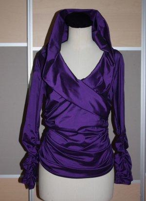 Barbara Schwarzer Carmen blouse donkerpaars