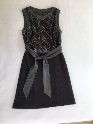 Barbara Schwarzer Jurk zwart Polyester