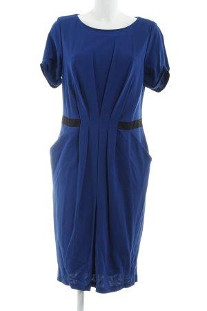 Barbara Schwarzer Manteljurk blauw-zwart zakelijke stijl