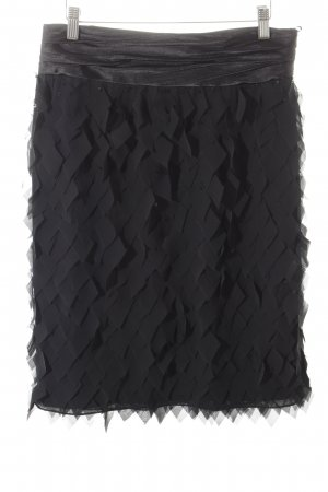 Barbara Schwarzer High Waist Skirt black elegant