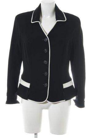 Barbara Schwarzer Jersey blazer zwart-wit elegant