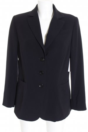 Barbara Schwarzer Smoking-Blazer schwarz Business-Look