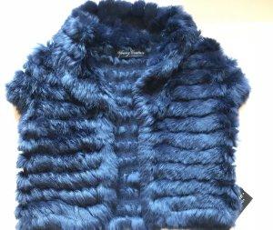 Barbara Schwarzer Smanicato di pelliccia blu scuro