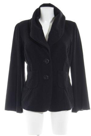 Barbara Schwarzer Blazer de lana negro estilo clásico