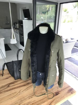 Barbed Fuchspelz Army Parka Jacke NP 2.500€ Fell Boss S 36 38