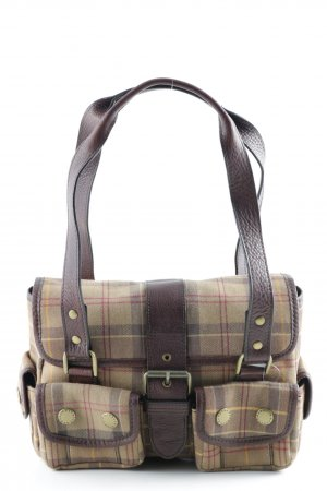 Barbour Bolso estampado a cuadros look retro